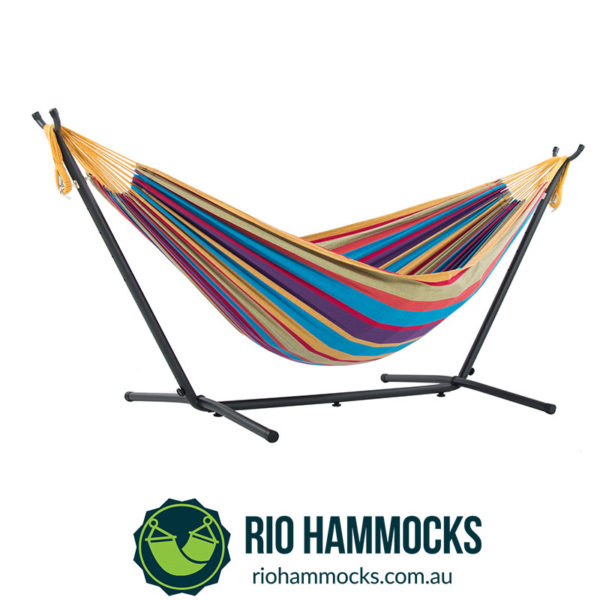Vivere's Combo - Double Tropical Hammock with Stand (250cm)