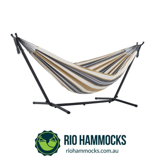 Vivere's Combo - Double Desert Moon Hammock with Stand (250cm)